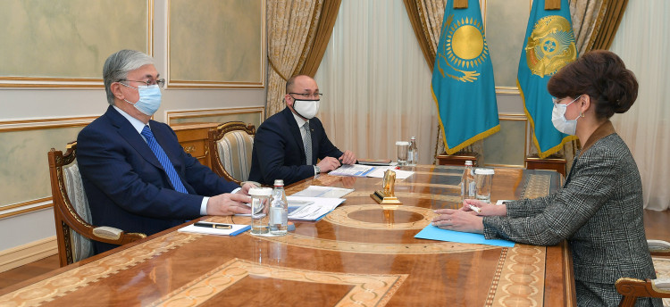 The Head of State receives Minister of Information and Public Development Aida Balayeva