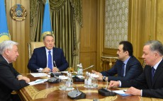 Сonsultations with Chairman of the Mazhilis of Parliament Kabibulla Dzhakupov and Prime Minister Karim Massimov
