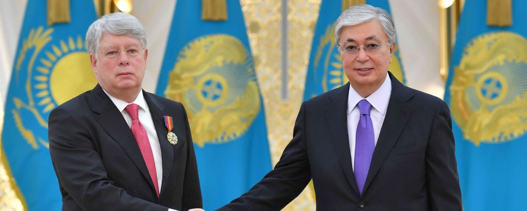President Kassym-Jomart Tokayev awarded the Order of Dostyk of the II degree to Ambassador of the Russian Federation to Kazakhstan Alexey Borodavkin