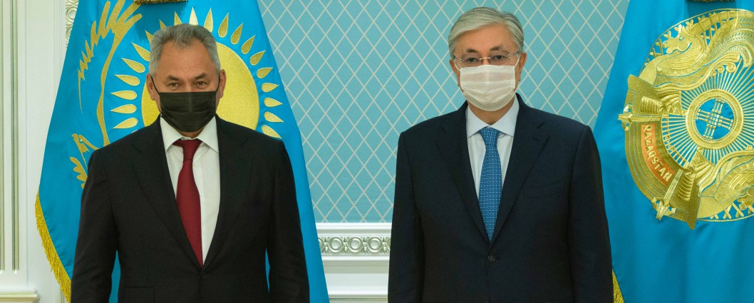President of Kazakhstan Kassym-Jomart Tokayev receives Minister of Defense of the Russian Federation Sergei Shoigu