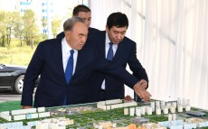 Acquaintance with construction of Karaganda city's new centre