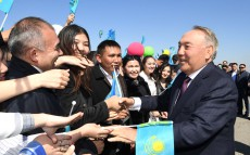 First President of Kazakhstan, Elbasy Nursultan Nazarbayev arrives in Almaty