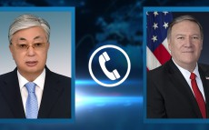 President Kassym-Jomart Tokayev had a telephone conversation with US Secretary of State Michael Pompeo