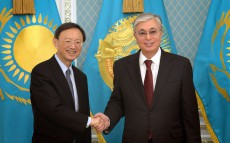 The President of Kazakhstan meets with Yang Jiechi, Member of the Political Bureau of the Central Committee of the Communist Party of China