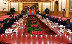 Meeting with the Chairman of the People's Republic of China Xi Jinping in expanded format