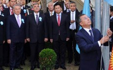 Today as Part of the Official Visit to Turkey, President Nursultan Nazarbayev Participates in the Turkic Council Flag Raising Ceremony