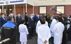 The President visits a newly opened branch of the Clinical Infectious Diseases Hospital named after Izatima Zhekenova in Almaty